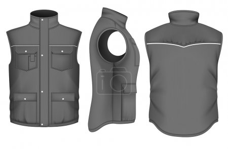 Men's bodywarmer design