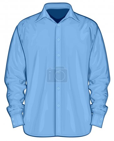 Illustration of dress shirt