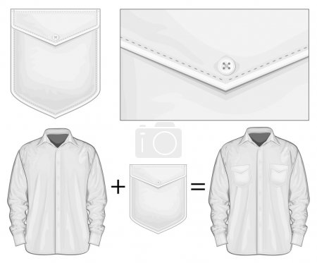 Dress shirt with pockets.