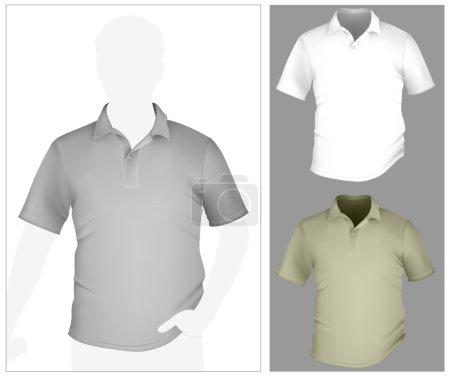Men's polo shirt template