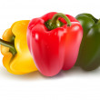 Ripe colored peppers. Vector illustration of peppe...