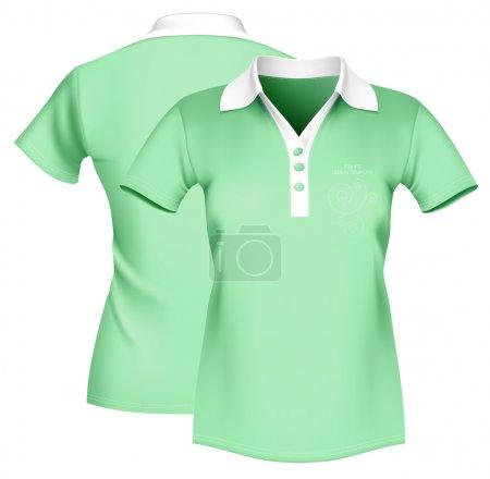 Women's polo shirt template.