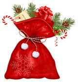 Christmas sack with presents