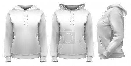 Women's hoodie zip down