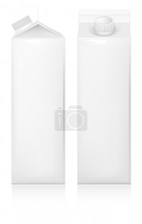 Milk and juice white carton package.