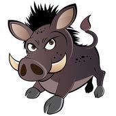 Funny boar cartoon