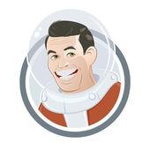funny cartoon astronaut