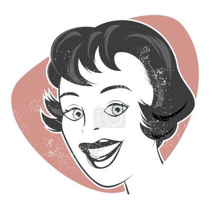 Vintage cartoon woman