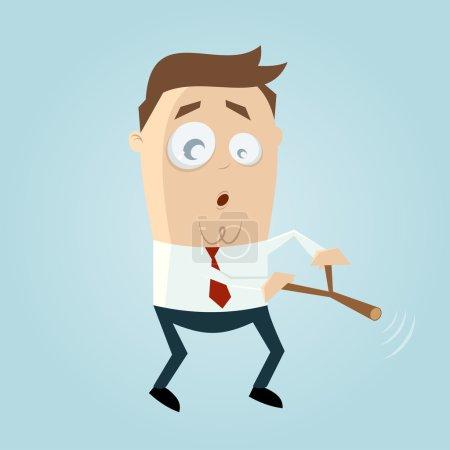 Illustration pour Dessin animé homme est dowsing - image libre de droit
