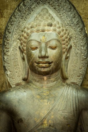 Photo for Shape the face of an ancient Buddha statue. - Royalty Free Image