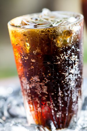 Photo for A glass of cola with ice cubes - Royalty Free Image