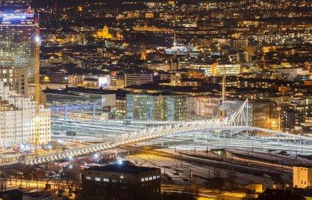 The bridge over the railway. Oslo, Norway...