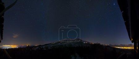 Etna night panorama. Sicily, Italy