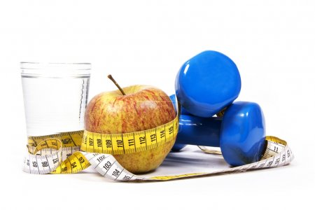Concept of weight loss and healthy life