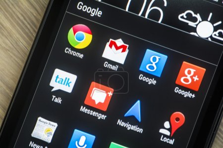 Google icons on smartphone