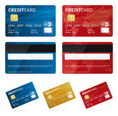 Credit card vector images or eps files Own design Red gold blue