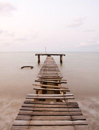 old sea pier