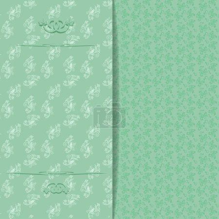 Illustration for Floral wedding invitation or greeting card. Vector illustration - Royalty Free Image