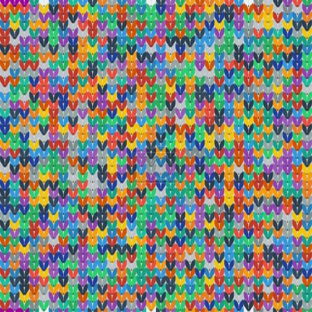 Illustration for Colorful seamless texture of knitted fabrics. Vector illustration. - Royalty Free Image