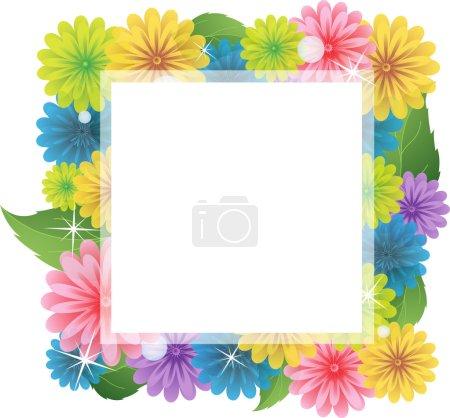 Bright wildflowers frame