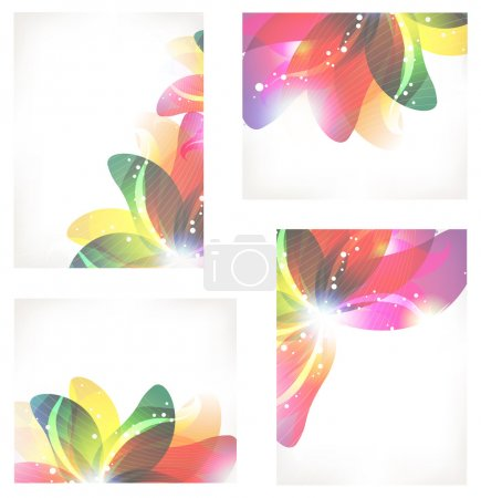 Abstract flower cards