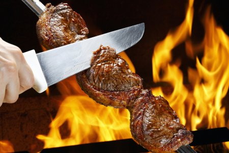Photo for Picanha, traditional Brazilian barbecue. - Royalty Free Image