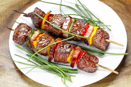 Barbecue on charcoal