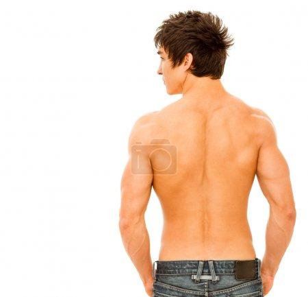Young muscular man.