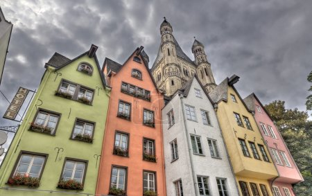Historical houses in Cologne, Germany