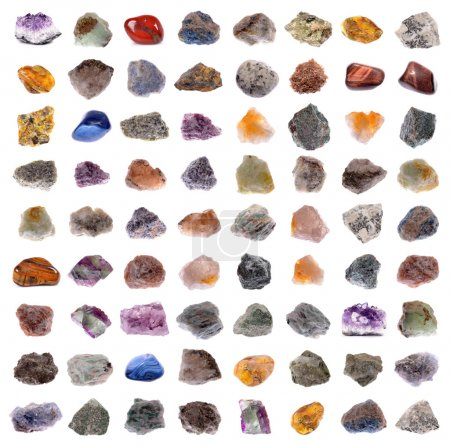 Photo pour Mineral collection isolated on a white background - image libre de droit