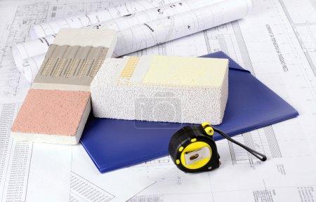 Piece of Styrofoam with plaster,