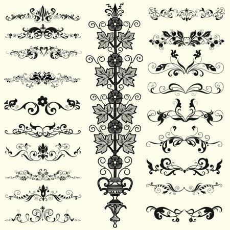 Photo pour Forme décorative avec les éléments floraux - image libre de droit