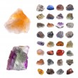 Mineral collection isolated on a white backgroun...