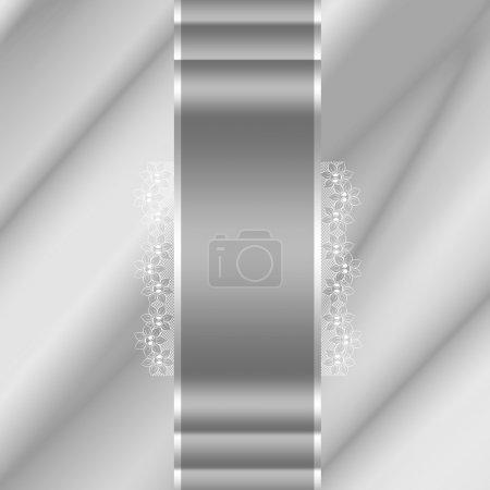 Photo pour Fond ondes abstraites illustration de plis ondulés de soie texture satin argenté - image libre de droit