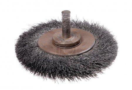 Rotating metal brush