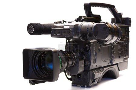 Photo pour Caméra de télévision professionnelle isolé sur fond blanc, photographie - image libre de droit