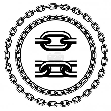 Chain seamless silhouettes - illustration for the web