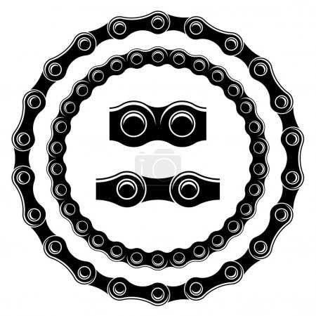 bicycle chain seamless silhouettes