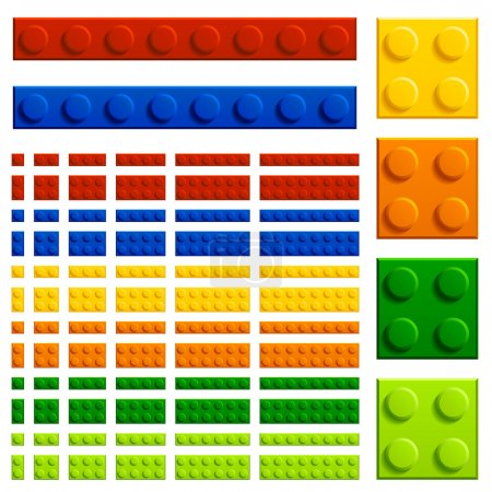 Illustration for Children plastic bricks toy - illustration for the web - Royalty Free Image