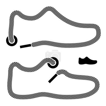 shoelace shoe symbols