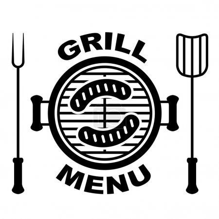 Illustration for Grill menu symbol - illustration for the web - Royalty Free Image