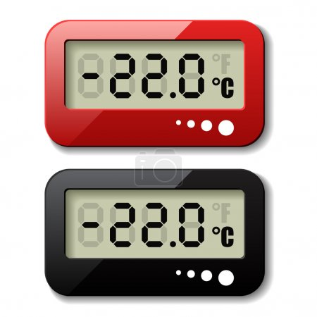 Digital thermometer icons