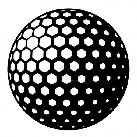 Illustration for Golf ball symbol - illustration for the web - Royalty Free Image