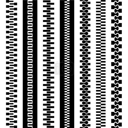 seamless zipper black symbols