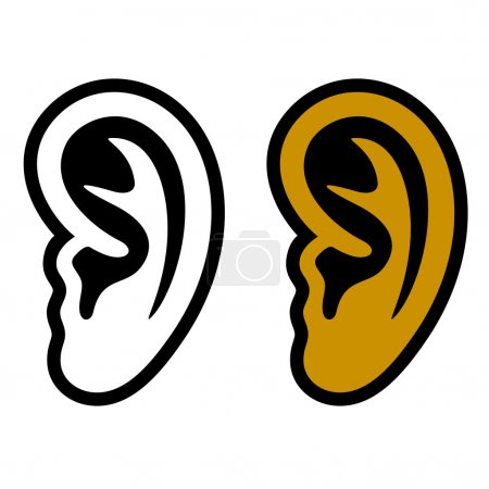 Illustration for Human ear symbols - illustration for the web - Royalty Free Image