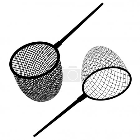 fishing net black icon