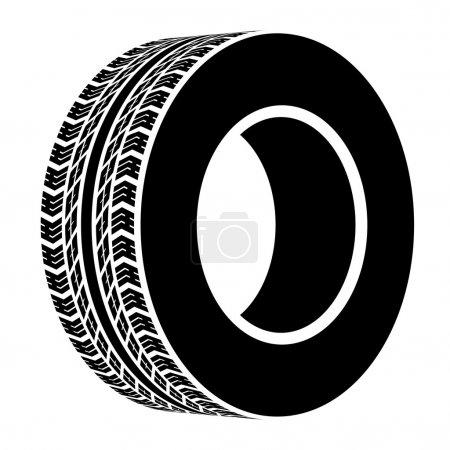 black terrain tyre symbol