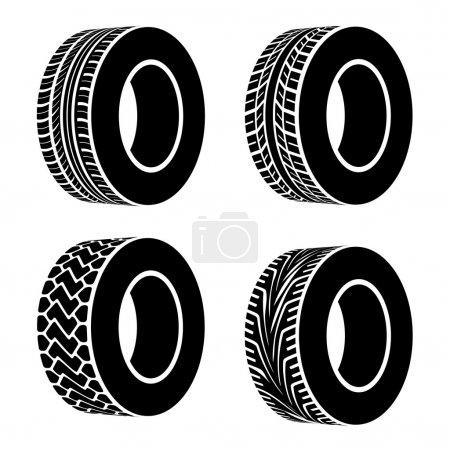 black tyre symbols