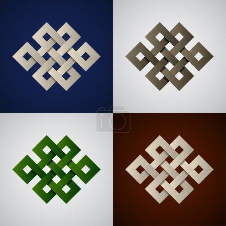 paper endless celtic knots