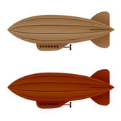 brown vintage airship zeppelin